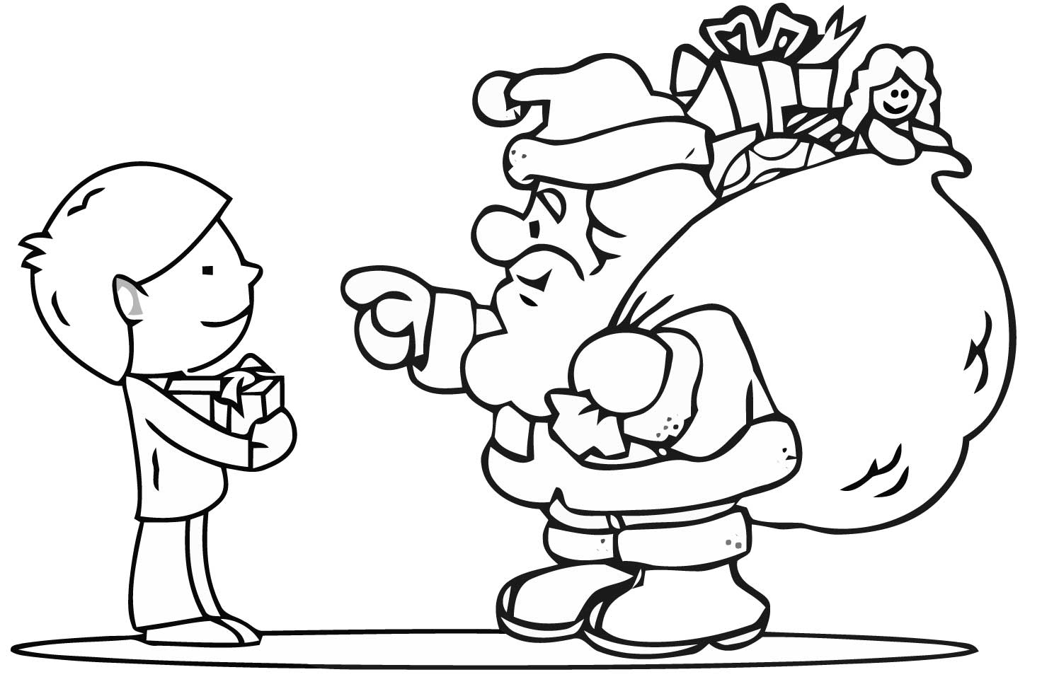 coloring pages christams - photo#23