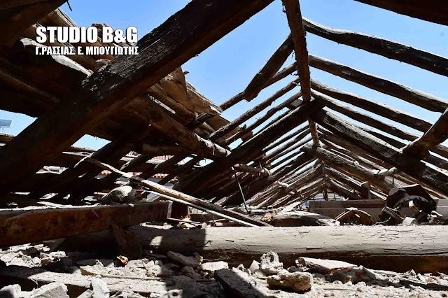 Η έναρξη των εργασιών στη στέγη του Αγίου Γεωργίου αποκάλυψαν πως ηταν έτοιμη να καταρρεύσει