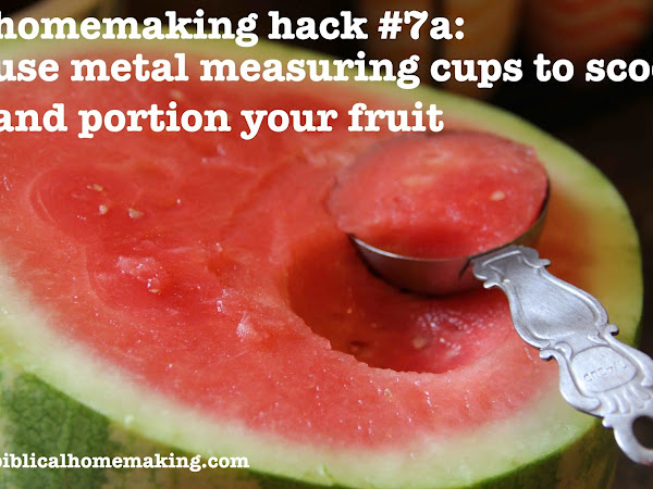 homemaking hack #7: how to measure portions easily