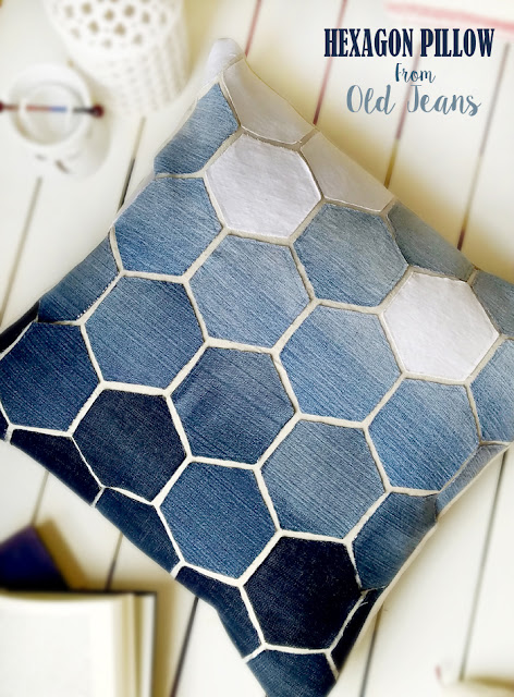 Repurposed, upcycled, honeycomb, sewing project