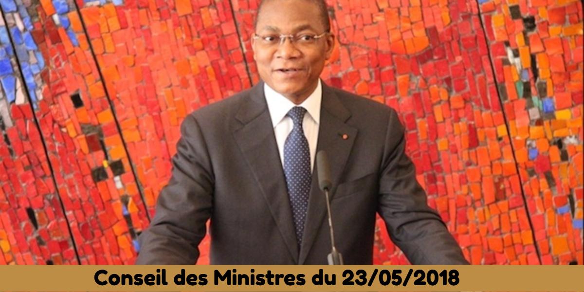 Projets de loi et de décret récemment adoptés en Conseil des Ministres 23-05-2018
