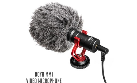 Facebook Live,YouTube Video Microphone For Smartphone, PC And DSLR- (BOYA BY-MM1)- Tech Osman