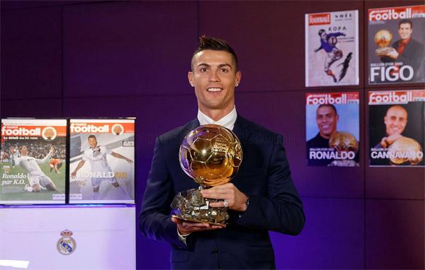 Balón de Oro Cristiano Ronaldo cuarto