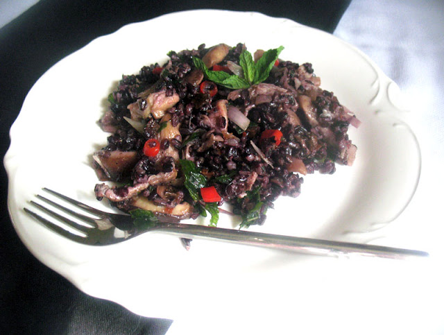 Thai-Inspired Black Rice and Mushroom Salad