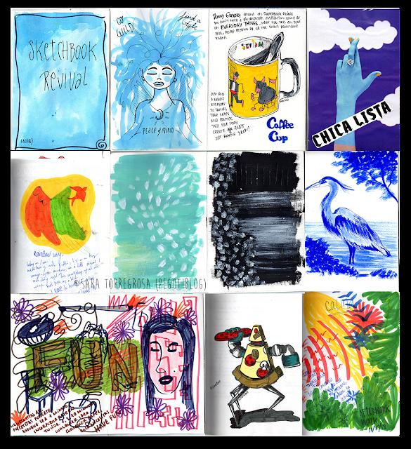 Pegotiblog - Art journaling - Skecthbook illustrations 01