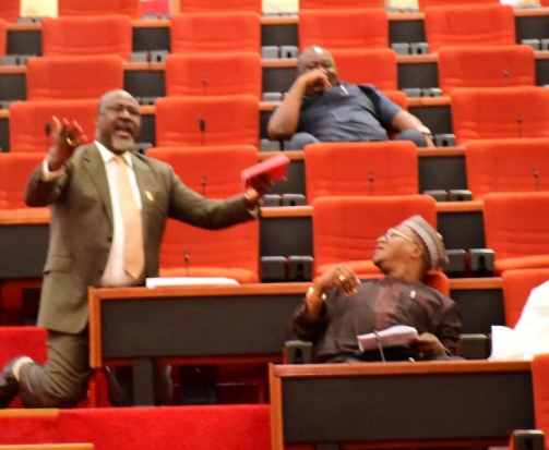 Melaye kneels during plenary to tender Kogi's case