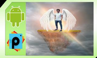 cara edit foto menambahkan sayap picsart