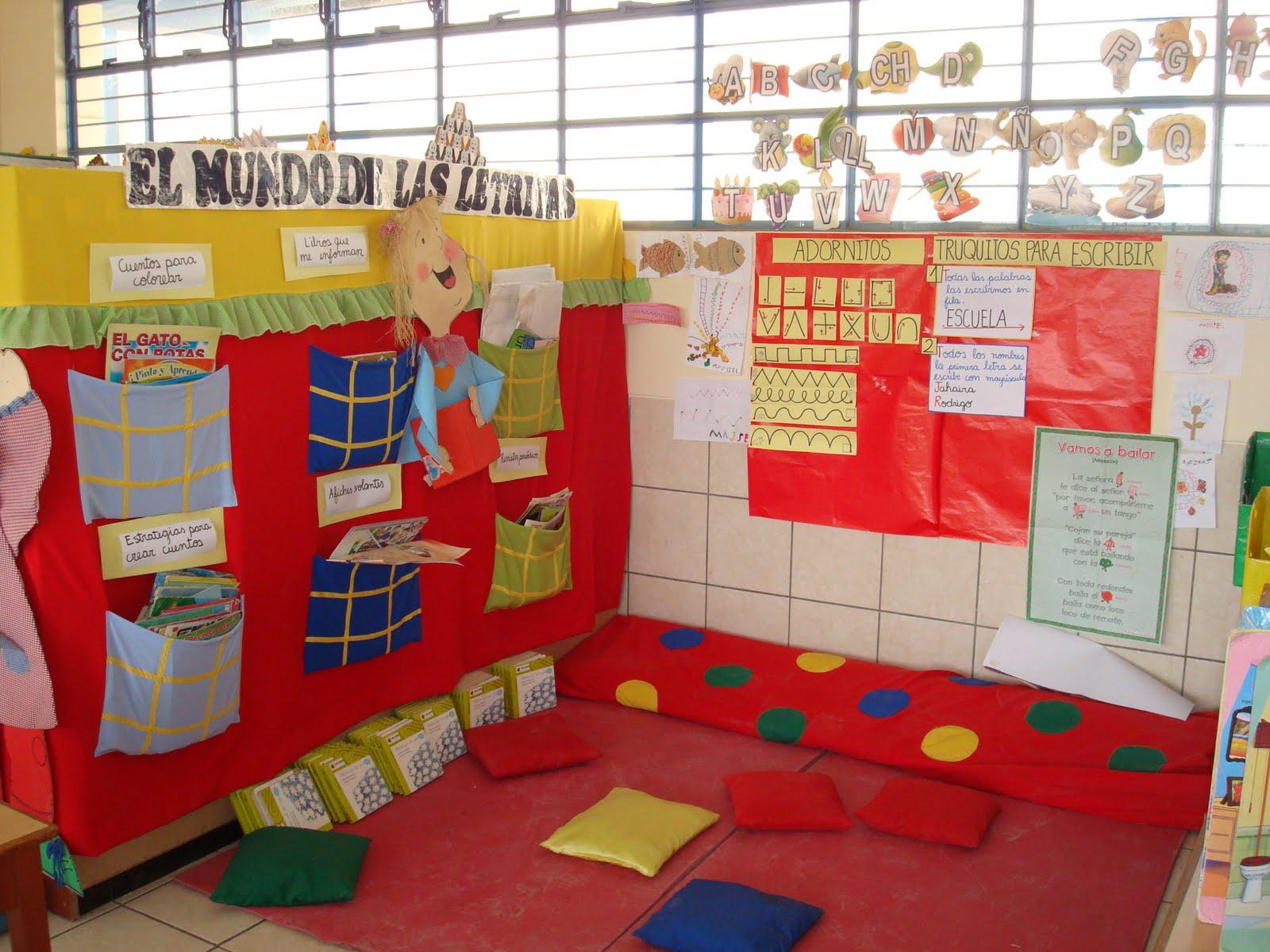 Educando con amor decoracion del aula for Buenas ideas decoracion