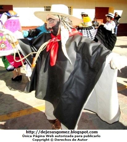 Foto del Argentino o arriero integrante de la Tunantada en Santa Cruz de Andamarca. Foto del argentino de Jesus Gómez
