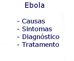Ebola causas sintomas diagnóstico tratamento prevenção riscos complicações