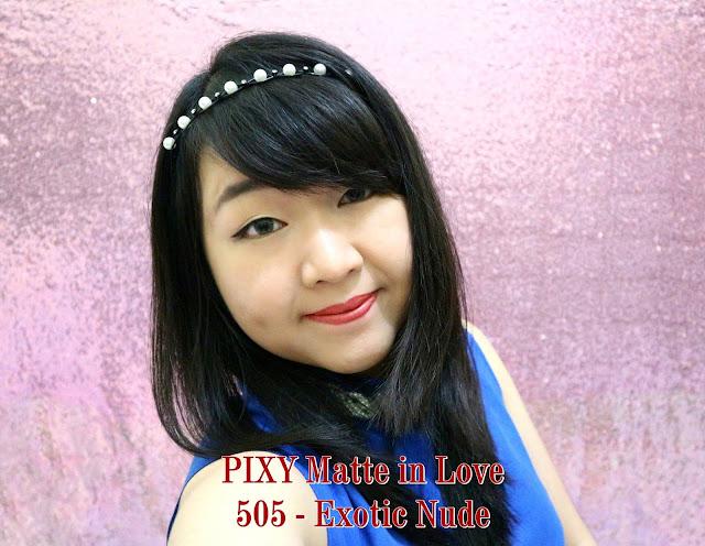 PIXY Matte in Love Lipstick 505 Exotic Nude