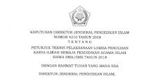 Juknis Lomba Karya Ilmiah Remaja (KIR) PAI 2018 Total Hadiah 75 Juta