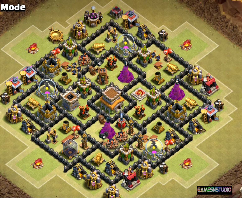new town hall 8 war base trophy pushing base farming base layouts