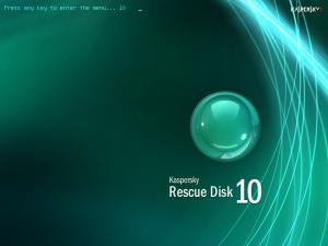 bersihkan virus dengan Kaspersky rescue disk
