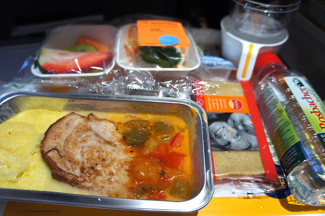 gluten free meal, Lufthansa flight Frankfurt New York