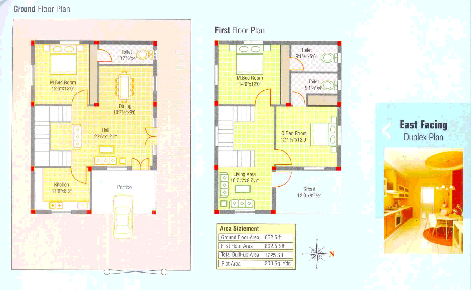 3 bedroom kerala home free plan with 1725 sq ft with lot - Kerala house designs and floor plans 2013 ...