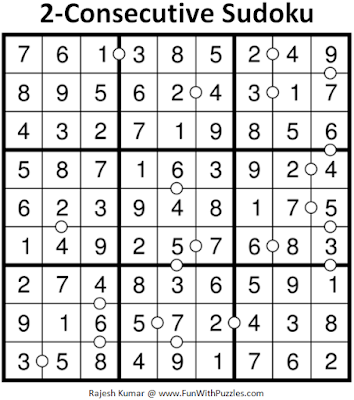 Puzzle Answer of 2-Consecutive Sudoku (Fun With Sudoku #235)