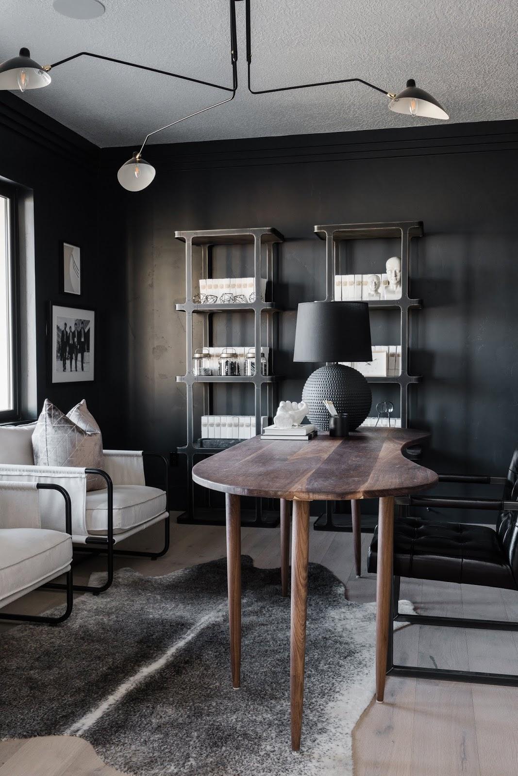 Wood Office Desk, Masculine Office Ideas