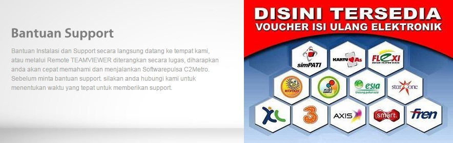 Bantuan Support C2 Software Pulsa