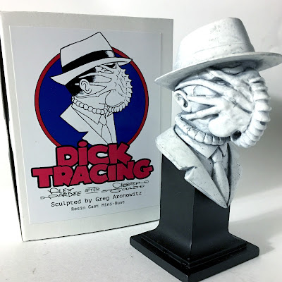 Dick Tracing Resin Figures by Alex Pardee x BarnyardFX - The Dick Hugger Mini Bust