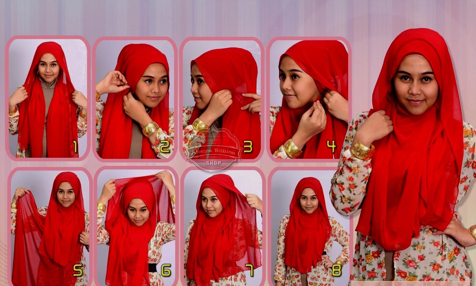 27 Foto Tutorial Hijab Untuk Wajah Oval Bisa Didownload Tutorial