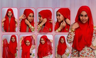 cara memakai hijab untuk wajah bulat terbaru