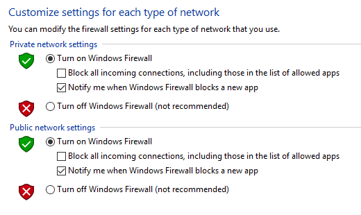 Turning On Windows Firewall