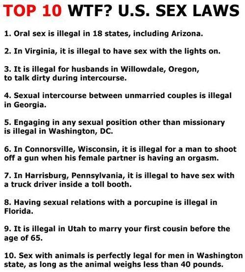 wierd sex laws abroad