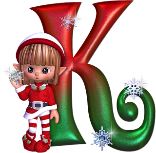 Abecedario con Elfos de Navidad. Alphabet with Christmas Elf.
