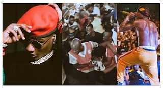 Fans faint at Wizkid's concert in Ivory Coast.