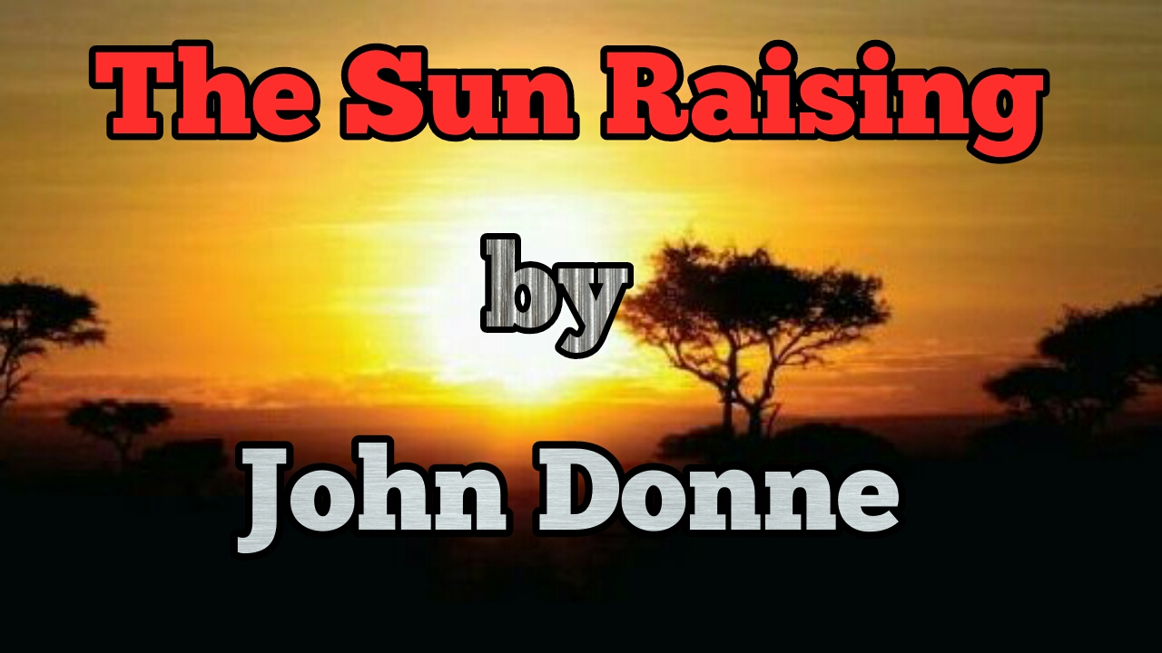 the sun rising john donne analysis