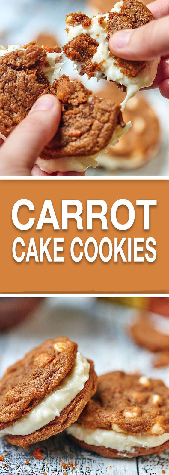 Carrot Cake Cookies With Coconut Cream Cheese Frosting