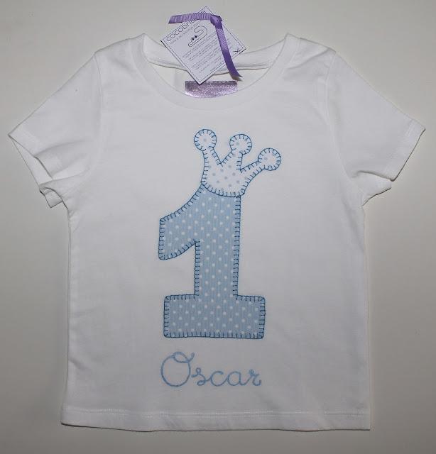 camiseta de cumpleaños 1 año personalizada