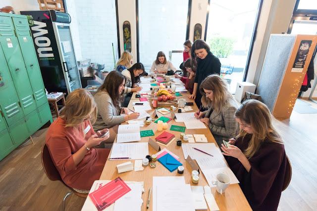 Blogger Event DIY viking Koeln Ehrenfeld Colabor Kalligraphie Ana Luiza Jules kleines Freudenhaus