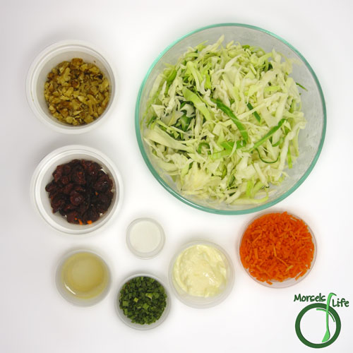 Morsels of Life - Cranberry Walnut Cole Slaw Step 1 - Gather all materials.
