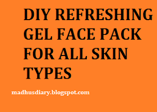 gel face pack