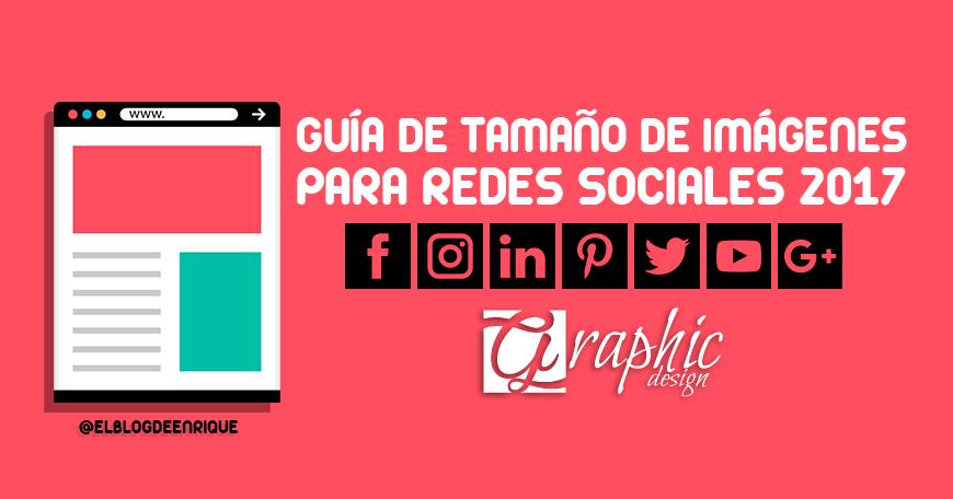 Tamaño de imágenes para redes sociales 2017 (Facebook, Twitter, Instagram, Youtube)