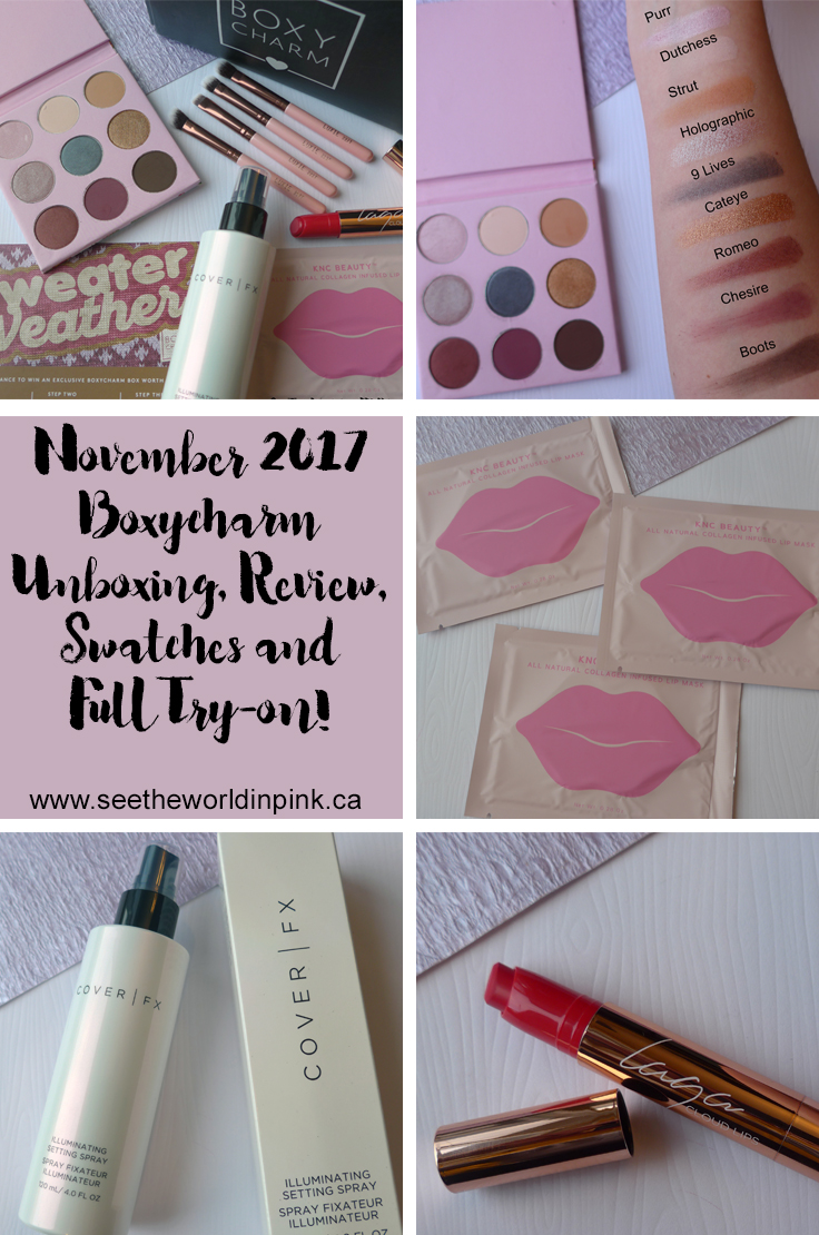 November 2017 - Boxycharm Unboxing, Swatches, Full Try-on and Review!