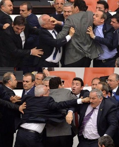 Turkey Lawmakers Throw Punches In Parliament