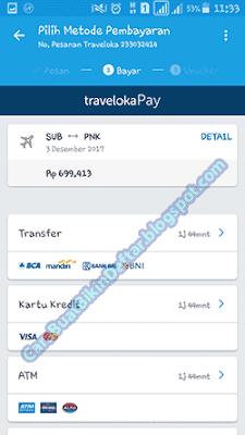 cara pesan tiket di traveloka