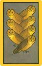 Tarot Persia Madame Indira: Siete de Búhos