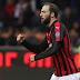 Higuain anotó en la victoria del Milan frente al Sampdoria
