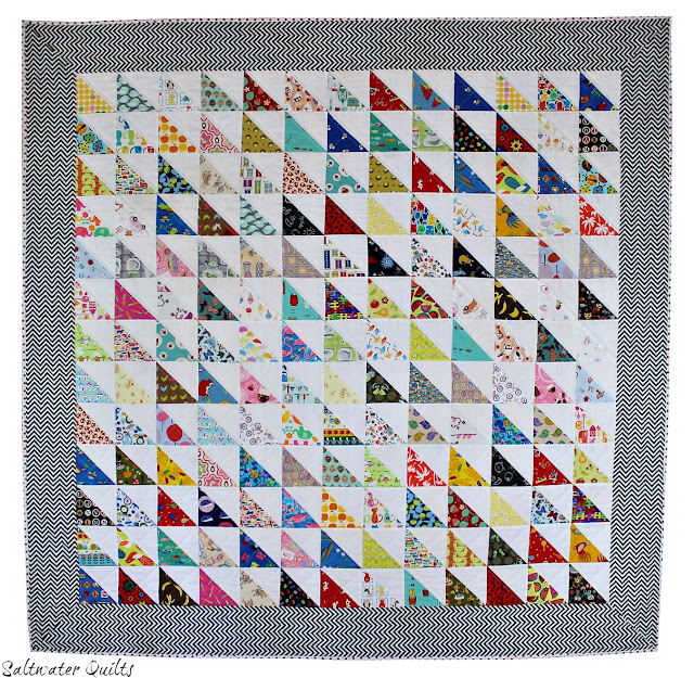 I Spy Quilt | Half Square Triangles | © Saltwater Quilts 2012