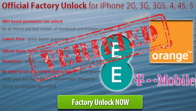 Unlock Orange UK iPhone