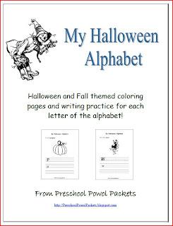halloween alphabet printables preschool powol packets. Black Bedroom Furniture Sets. Home Design Ideas