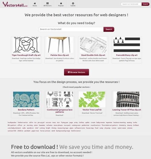 أفضل 10 مواقع لتحميل الفكتور مجانا موقع Vectors4all - مدونة Blog4Prog