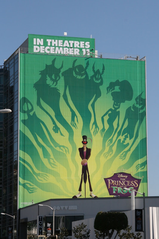 Giant Princess and the Frog movie billboard