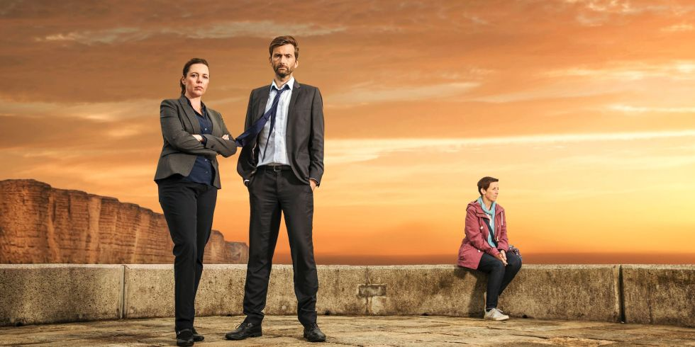Olivia Coleman y David Tennant en Broadchurch
