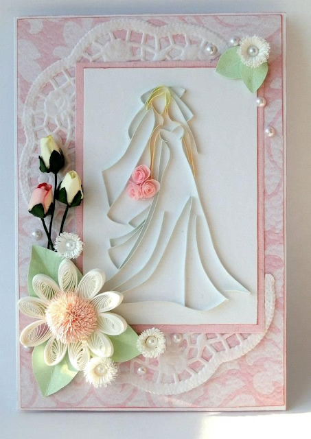 Bridal engagement quilling greeting card designs  2015 - quillingpaperdesigns