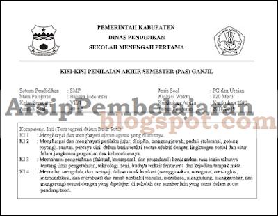 File yang akan Admin bagikan pada kesempatan artikel ini dipersiapkan untuk pelaksanaan ke Kisi-kisi Soal PAS UAS Kelas 7 Semester 1 Kurikulum 2013 Revisi 2018